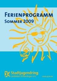 Sommerferienprogramm 2009 - Stadtjugendring Leinfelden ...