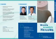 Flyer Wundmanagement - Krankenhaus St. Joseph-Stift Bremen