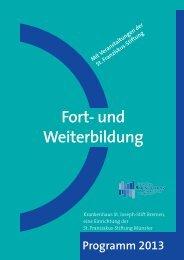 Fortbildungsprogramm 2013 - Krankenhaus St. Joseph-Stift Bremen