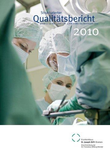 Strukturierter Qualitätsbericht gemäß § 137 Abs - Krankenhaus St ...
