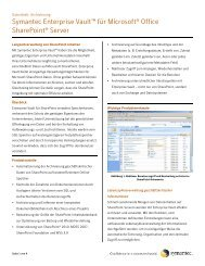 Enterprise Vault für Microsoft SharePoint - SHE ...