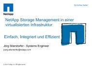 NetApp Storage Management in einer virtualisierten Infrastruktur