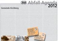 Abfall-Agenda 2012 - Gemeinde Kirchberg