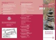 Jahresprogramm 2013 - Sozialdienst katholischer  Frauen in Karlsruhe