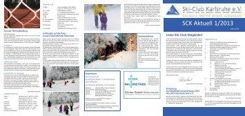 SCK Aktuell 1/2013 - Ski-Club Karlsruhe eV