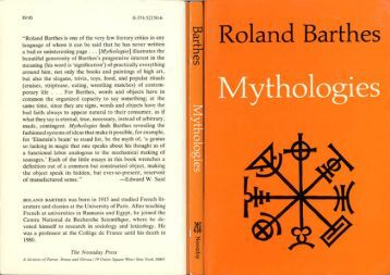roland barthes toys essay summary Mythologies | roland barthes, annette lavers | isbn: 9780374521509  but also  the slogans, trivia, toys, food, and popular rituals (cruises, striptease, eating,  of  course are in fact narratives that disclose their meaning under close analysis.
