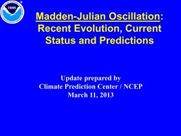Madden-Julian Oscillation: Recent Evolution, Current Status and Predictions