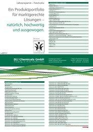 Lieferprogramm Feinchemie, DE - SLI Chemicals GmbH