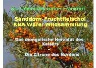 SLICh i l G bHF kf t  SLI Chemicals GmbH Frankfurt Sanddorn ...