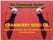 CRANBERRY SEED OIL - SLI Chemicals GmbH