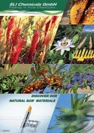 Natur Products, Brochure - SLI Chemicals GmbH