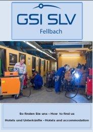 Anreiseinformation und Hotelliste Fellbach ... - SLV Fellbach