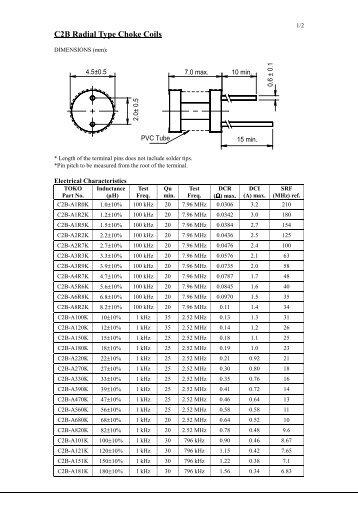 C2B Radial Type Choke Coils