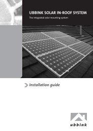 UBBINK SOLAR IN-ROOF SYSTEM Installation guide