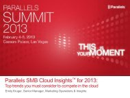Parallels SMB Cloud Insights for 2013:
