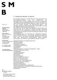 1. Staatliche Museen zu Berlin Die Staatlichen Museen zu Berlin ...