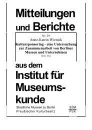 Kultursponsoring - Staatliche Museen zu Berlin
