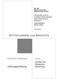 MITTEILUNGEN und BERICHTE - Staatliche Museen zu Berlin