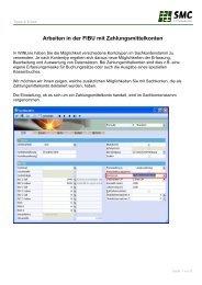Arbeiten in der FIBU mit Zahlungsmittelkonten - SMC IT AG