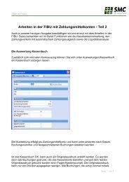 Arbeiten in der FIBU mit Zahlungsmittelkonten - Teil 2 - SMC IT AG