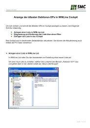 Anzeige der ältesten Debitoren-OPs in WINLine Cockpit - SMC IT AG