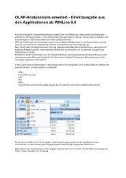 OLAP-Analysetools erweitert - Direktausgabe aus den ... - SMC IT AG