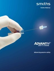 Advancing passive safety. - Smiths Medical