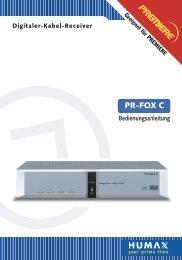 HUMAX PR FOX C Bedienungsanleitung - Kabel BW