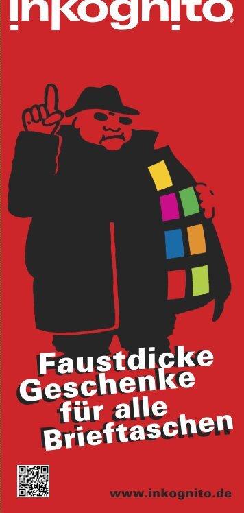 Faustdicke Geschenke - Inkognito