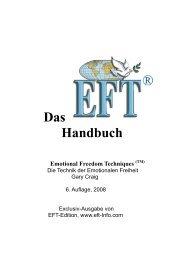 Das Handbuch - über EFT
