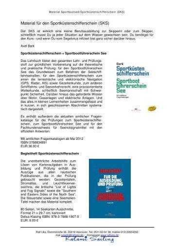 Material für den Sportküstenschifferschein (SKS)