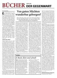 Bücher der GeGenwart - Christ in der Gegenwart