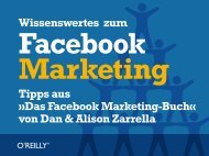 Das Facebook Marketing-Buch - beim O'Reilly Verlag
