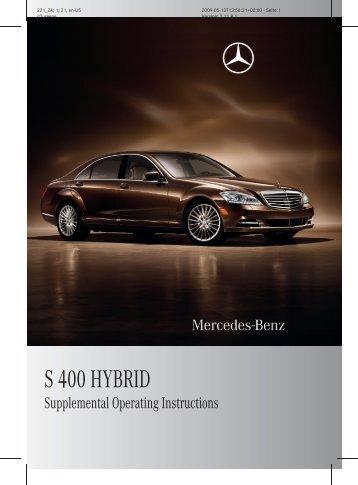 S 400 HYBRID - Mercedes Benz USA