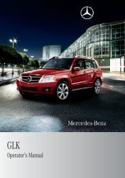 Operator's Manual - Mercedes Benz USA