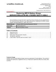 Replacing the Battery Straps Service Bulletin - Smiths Medical