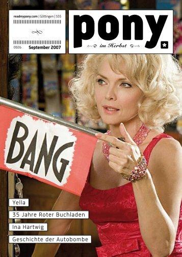 Yella 35 Jahre Roter Buchladen Ina Hartwig ... - Göttingen - Pony