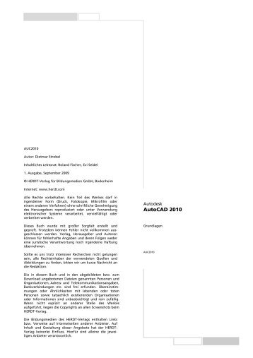Autodesk AutoCAD 2010 Grundlagen - RRZN
