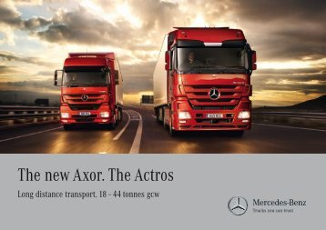 The new Axor. The Actros