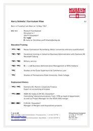 Harry Schmitz   Curriculum Vitae