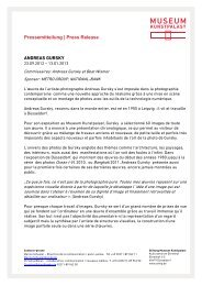 Pressemitteilung   Press Release ANDREAS GURSKY - Museum ...