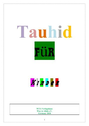 Tauhid für Kinder - Way to Allah