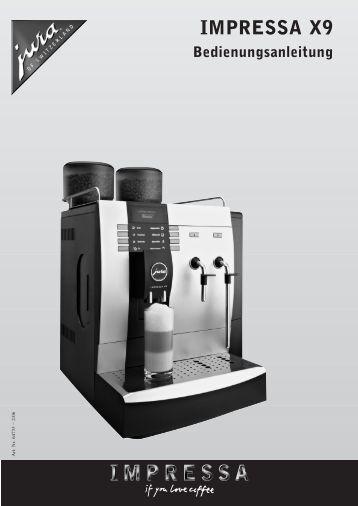 pflege kurzanleitung impressa x9. Black Bedroom Furniture Sets. Home Design Ideas