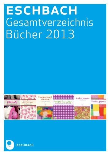 Gesamtverzeichnis Bücher 2013 - Verlag am Eschbach