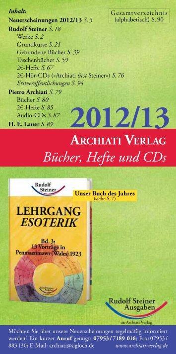 Bücher, Hefte und CDs - Archiati, Pietro