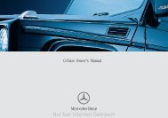 G-Class Owner's Manual - Mercedes G-Class, G-Wagon, G500, G55 ...