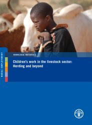 Children's work in the livestock sector: Herding and beyond