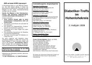 Hohenlohe Programm 2008 - Deutscher Diabetiker Bund ...