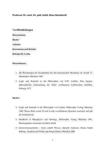 Download Veröffentlichungen - Fakultät für Philosophie ...