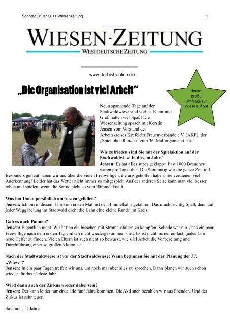 Sonntag 31.07.2011 - Du-bist-online.de